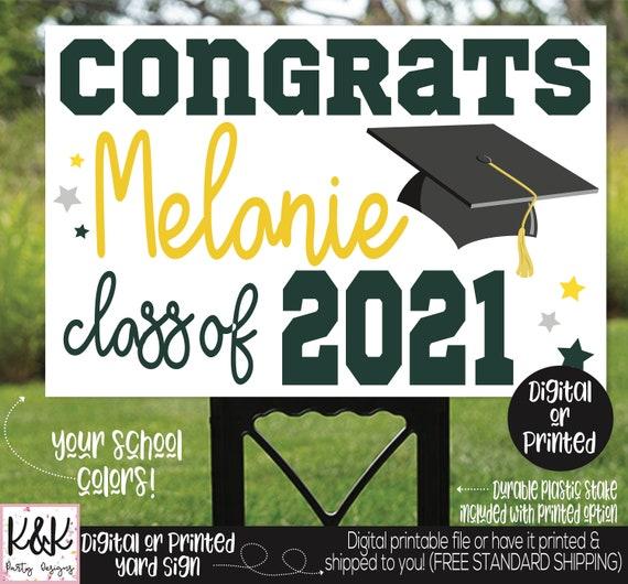 2021 Senior Year Sign Personalized Senior Graduation Sign Graduation Party Signs Class of 2021 Congrats Grad Sign Graduation Yard Sign