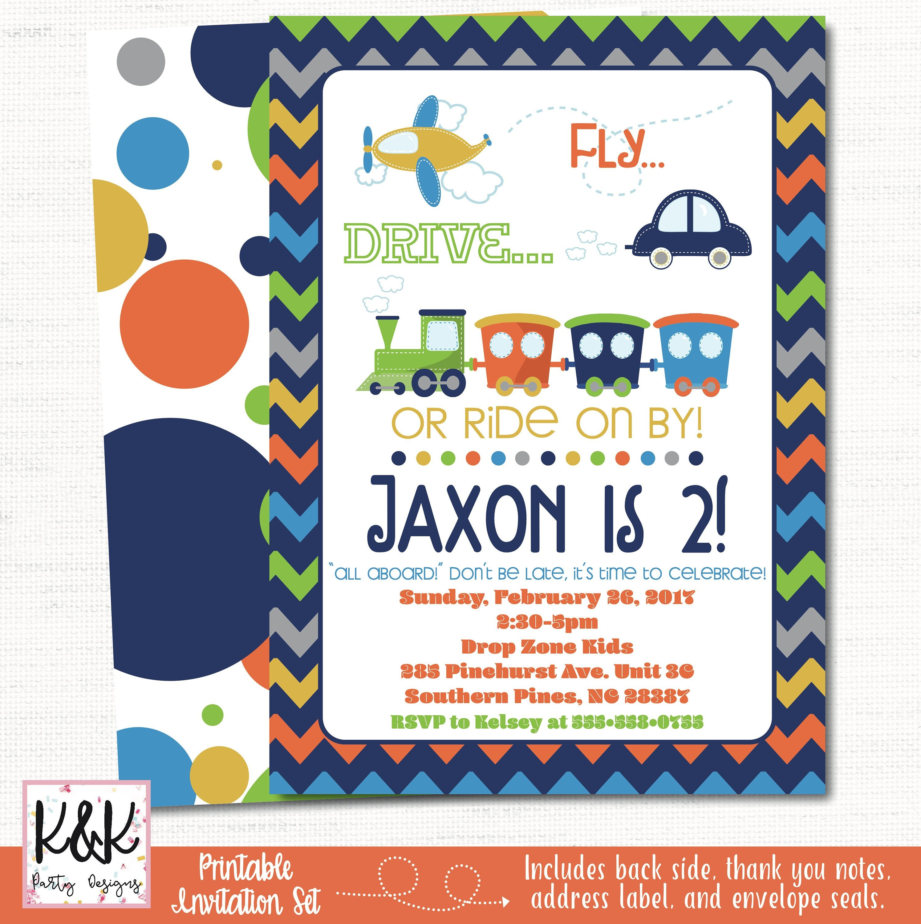8 All Aboard Invitations /& Envelopes Boys Trains Birthday Party Supplies Invites