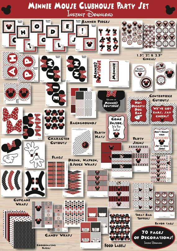 Minnie Mouse Printables Party Decorations