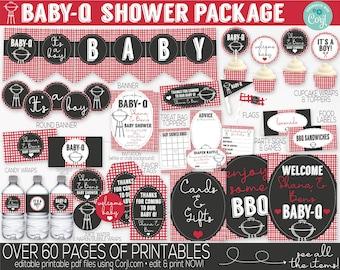 Baby Q Baby Shower Decorations, Baby Q Invitation, BBQ Baby Shower, Couples Baby Shower Decorations, Coed Baby Shower, Baby-Q Baby Shower