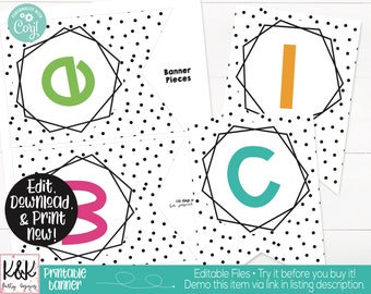 Bright Colors Rainbow Theme Classroom Banner Printable, Teacher Supply, Classroom Teacher Decoration and Supplies, Welcome Back Banner