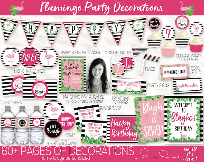 Flamingo Birthday Party Decorations