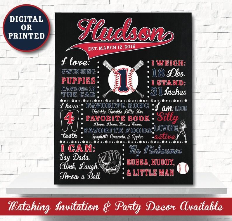 Baseball Chalkboard  Baseball Party Decoration Baseball image 0