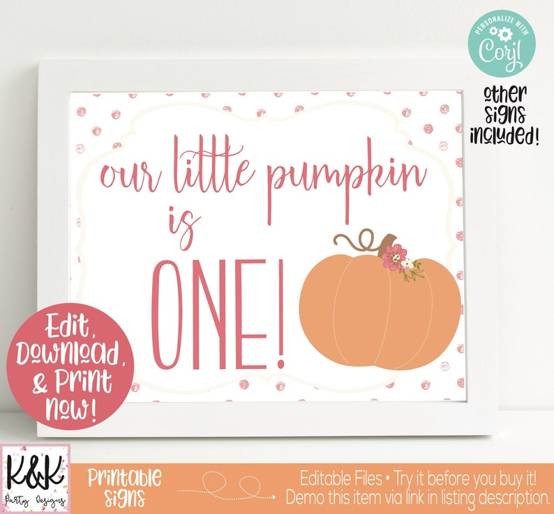 Pumpkin Party Signs Pumpkin Welcome Sign Chili Bar Sign image 0