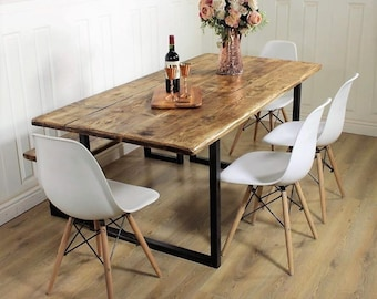 Reclaimed Dining Table Etsy - Cheap reclaimed wood dining table