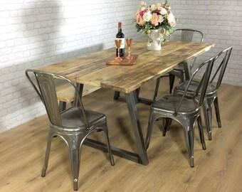 kitchen dining tables etsy uk rh etsy com Industrial Metal Dining Table Medieval Dining Table