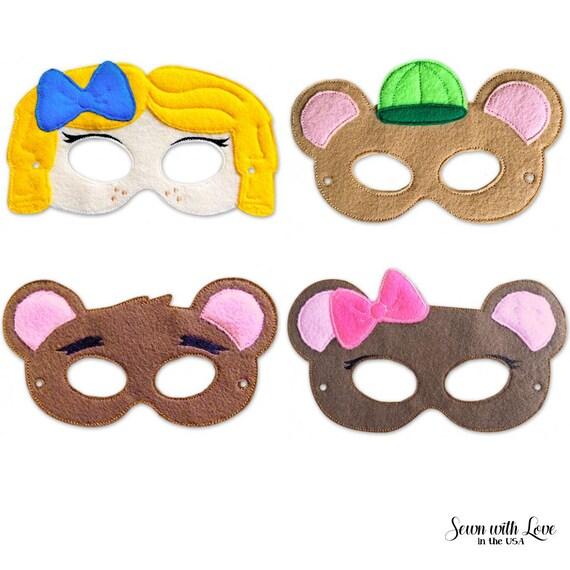 Goldilocks And The Three Bears Mask Party Masks Party Etsy