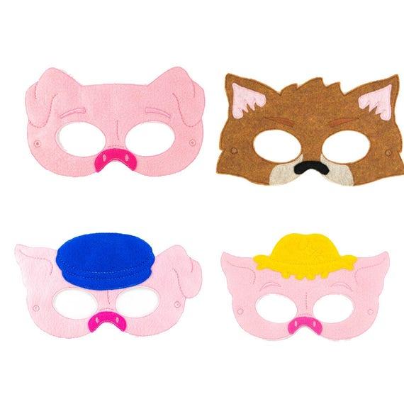 3 kleine Schweine Masken Partei-Masken 3 Schweinchen | Etsy