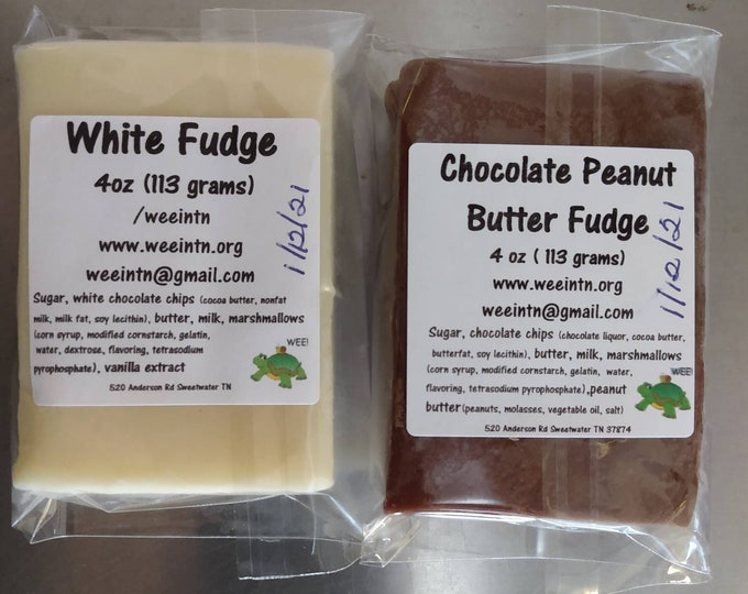Fudge Special of the Week 2 Individually Wrapped 4oz bars (1/2 lb)  *Free Shipping*