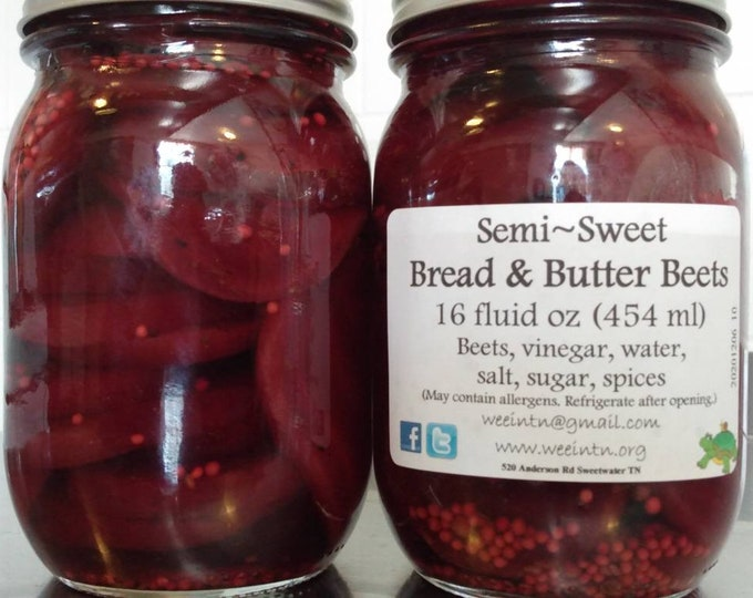 Sweet Bread & Butter Pickled Beets by WEE **Free Shipping**