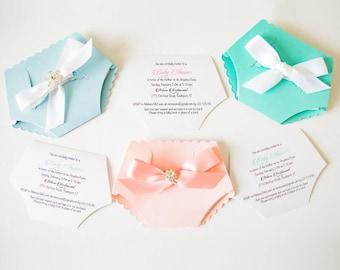 Diaper Invitation Etsy