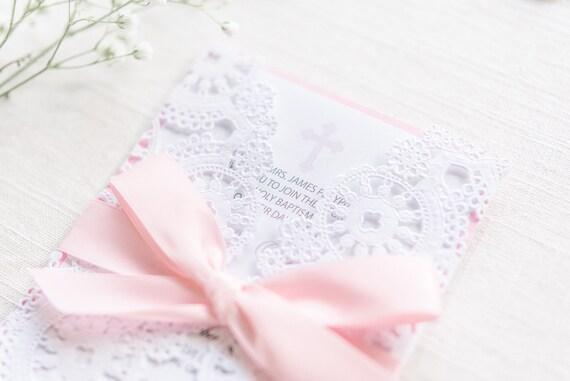 Christening Invitation Card Baptism Invitation Card Baby Girl Invitation Card Baby Invitation Card Birth Announcement Invitation Card