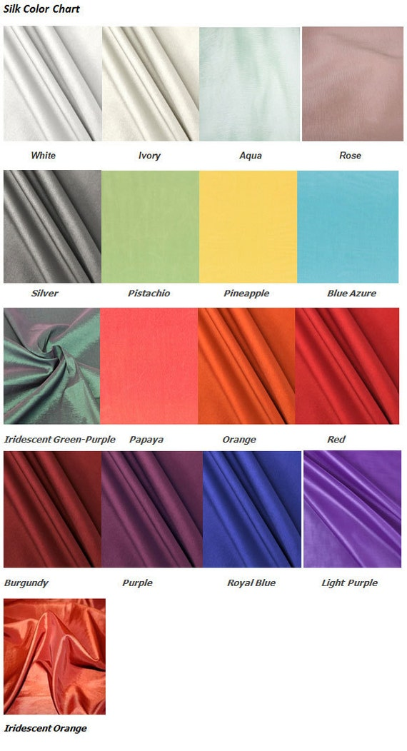Silk Color Chart Etsy