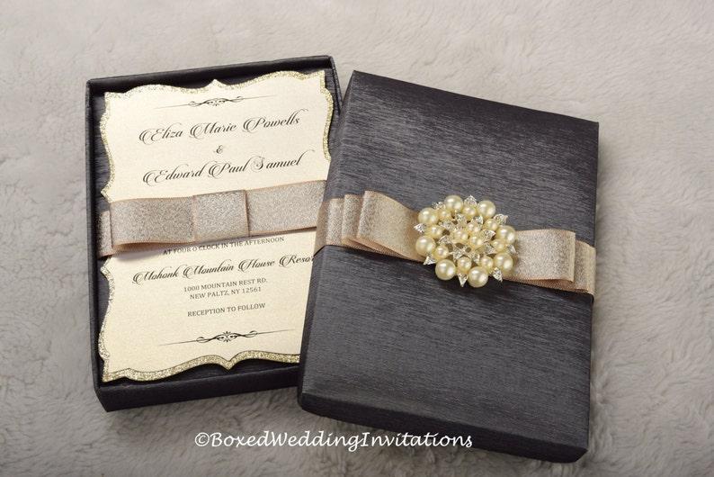 Wedding Invitation Box Couture Unique