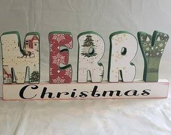 Merry Christmas Wood Craft/decor