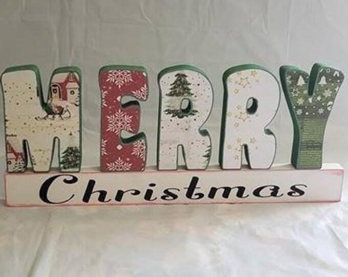 Merry Christmas Wood Craft/decor