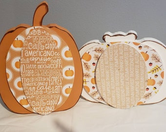 Fall/Autumn wood Pumpkin Craft and decor