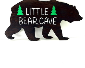 Personalized Wood Bear