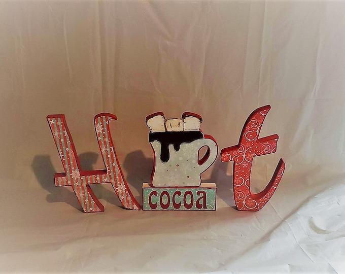 Hot Cocoa Wood Craft/decor