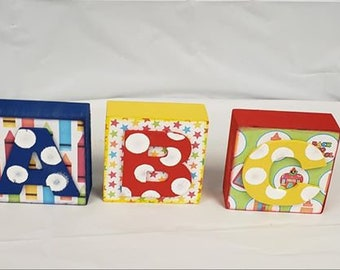 School/Nursery ABC Blocks 3pc