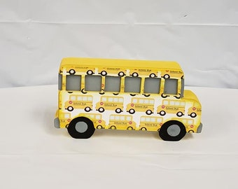 School Bus wood Decor