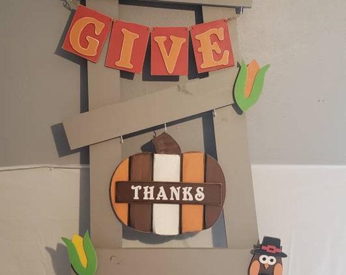 Interchangable ladder Thanksgiving/ November kit only