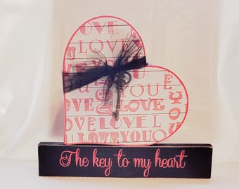 The key to my heart Valentine's Craft/Decor