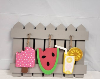 Summer watermelon ice cream lemonade  Fence kit
