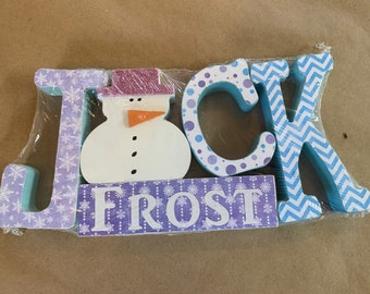 Jack Frost Christmas and Winter Wood Decor