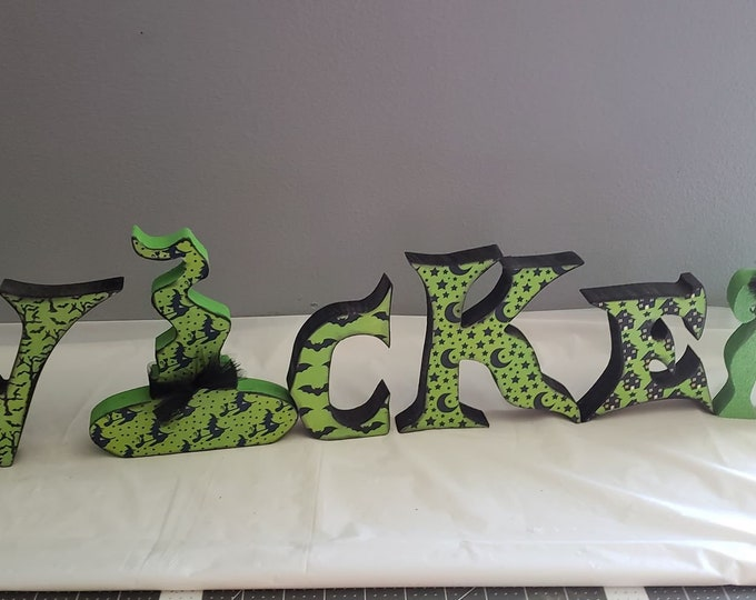 Wicked Halloween wood letter craft and decor