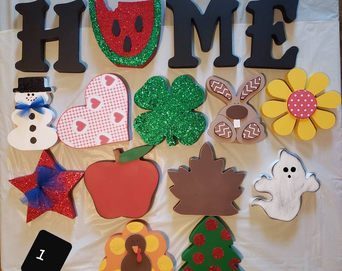 Interchangeable Home stand up Craft / Decor full set #1
