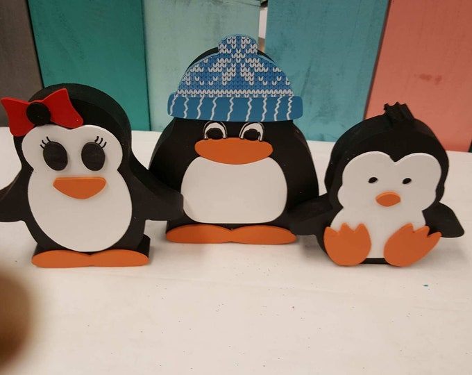 Christmas and winter penguins Craft/decor