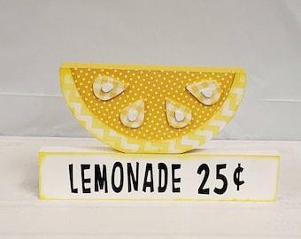 Lemonade  stand up letters