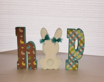 Easter Hop Bunny wood craft/decor