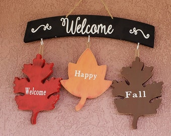 Interchangeable Fall leaves Fence / welcome kit
