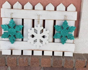 Winter snowflakes Interchangeable Fence kit