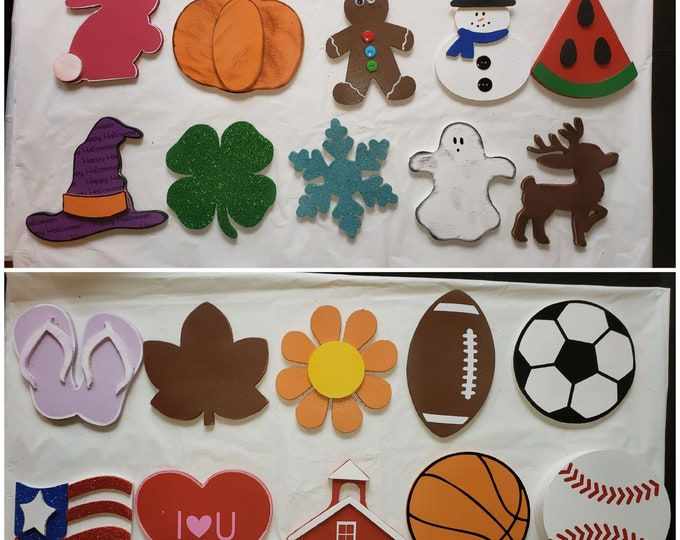Wood Home Sign attachments for Interchangeable Wood Home sign