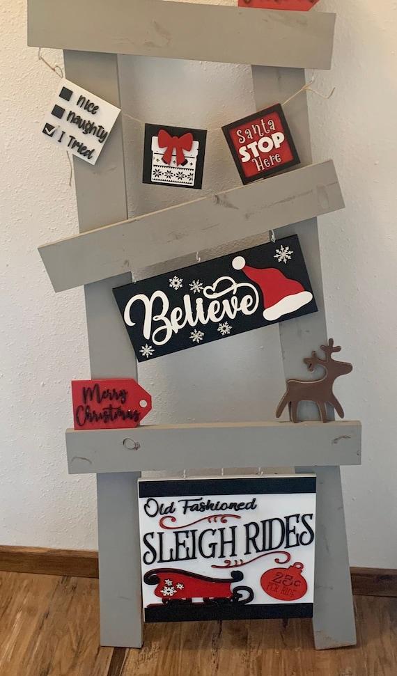 Interchangeable Believe Christmas ladder kit