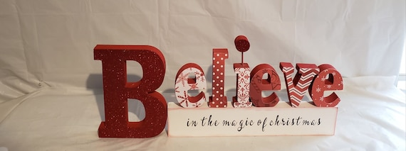 Christmas Wood Crafts.Believe In The Magic Of Christmas Wood Craft Decor