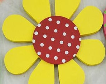 Daisy Interchangeable  Wood Welcome/Home Sign Shapes