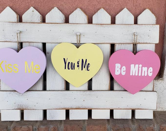 Valentine's conversation hearts interchangeable Fence kit