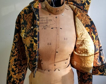 733f4afce337 Iconic Versace Jeans Couture 90s Vintage Baroque Medusa Denim Jacket Size  Small