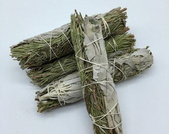 Rosemary & White Sage Smudge Bundle - Sacred Smoke - Natural Smudging Herbs