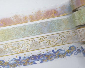 Pastel Foil Waves Washi Tape