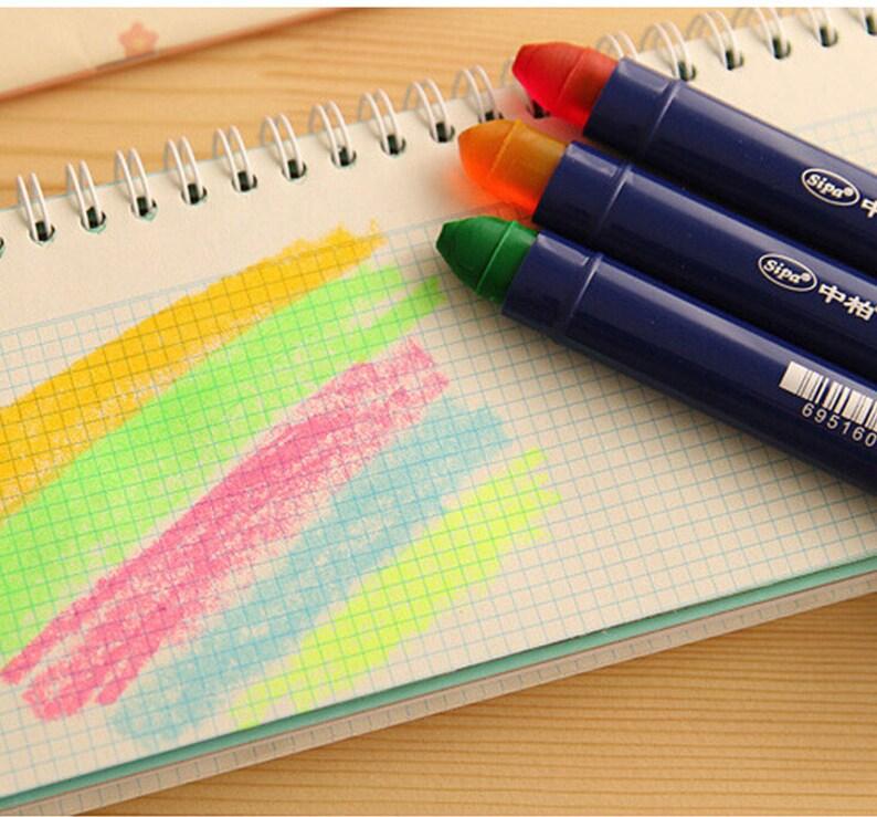 10f5d87c1fbb3 5 colors/set Lovely jelly graffiti pen color fluorescent marker pen  Croc-a-doodles lighlighter pen for scrapbooking decoration TZ104