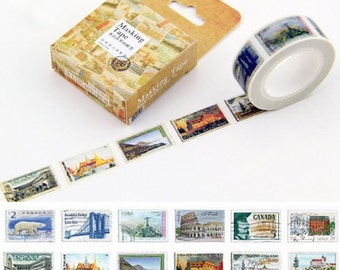 SALE!!Stamps from the world Washi Tape/Japanese Washi Tape / Deco tape TZ989