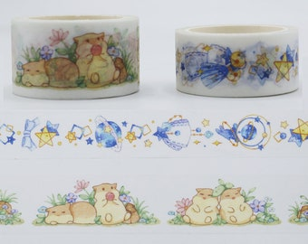SALE!!Small star/Jungle hamster Masking Japanese Washi Tape Paper  TZ2534