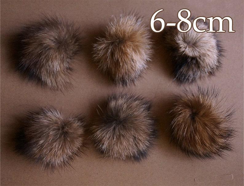 acc2dc373e634 4pcs x Small 6-8cmreal raccoon fur pom pom fur pompom