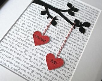 Unique Wedding Gift, Personalized Wedding Gift, Engagement Gift, Anniversary Gift, Custom Wedding Gift, Christmas Gift, Gift for Couple