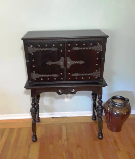 Antique Spanish Revival Secretary Desk, Spanish Revival Furniture